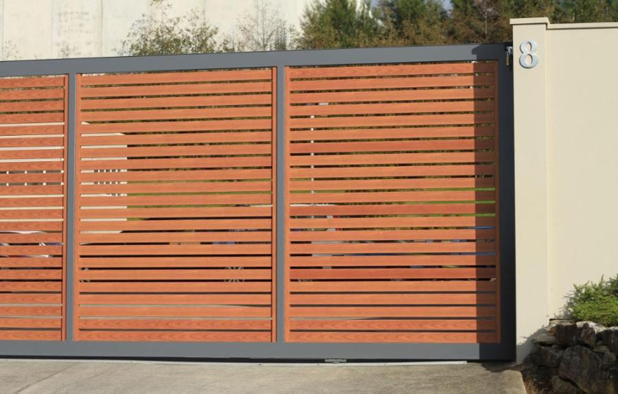 Fence Designs Nz Slat louver fences gates residential commercial systems slat1 workwithnaturefo